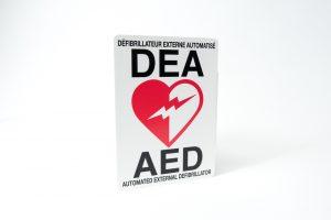 Affiche pour défibrillateur