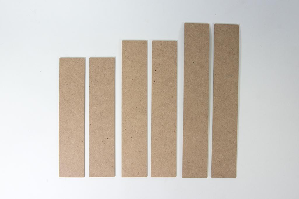 Attelles de bois en paquets de 6 unités