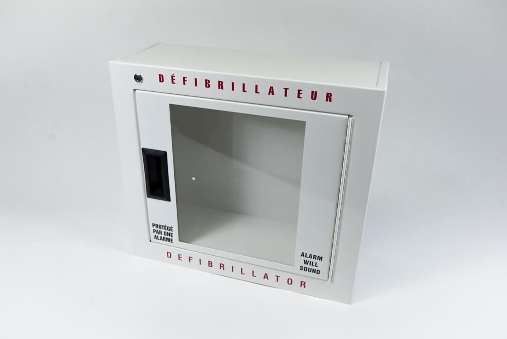 Boîtier mural en métal pour défibrillateur