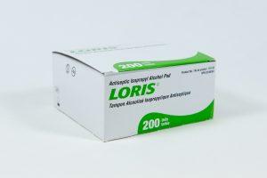 Tampon désinfectant d'Alcool, boîte de 200 unités
